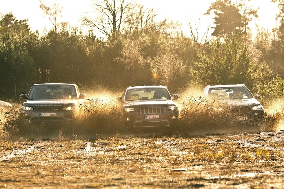 Range Rover Sport, Jeep Grand Cherokee och BMW X5
