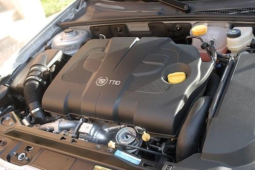 Förvirrande med Saabs motorbeteckning TTid under huven men BLS D på bakstammen.