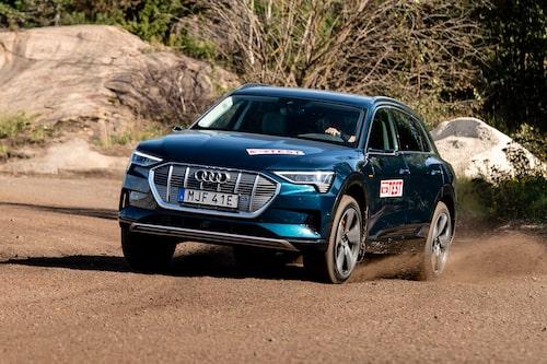 Elbilen Audi e-tron är en tungviktare.
