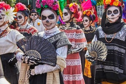Day of the dead-paraden i Mexico city.