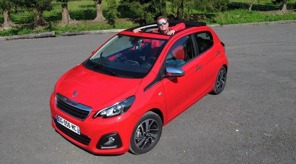 PeO Kjellström synas nya Peugeot 108