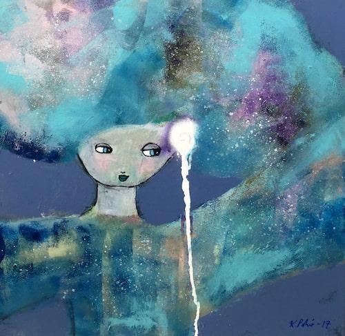 """Originalmålning """"Blue eyes girl"""" från Karolina Palmér konst exklusivt hos amelia."""