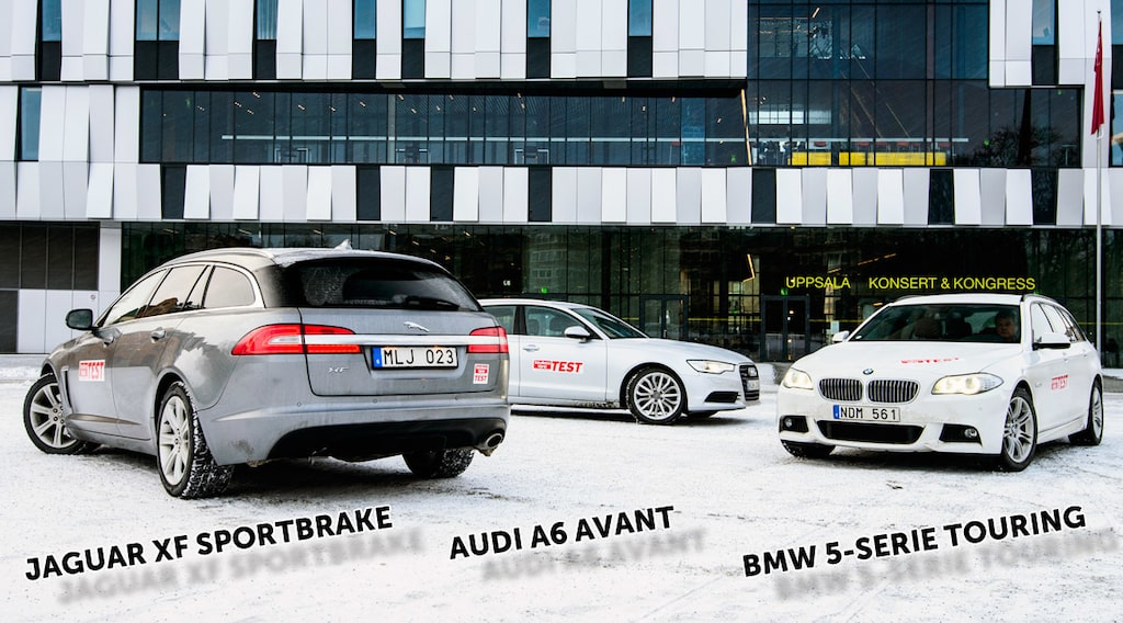 Jaguar XF Sportbrake, Audi A6 Avant och BMW 5-serie Touring