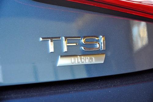 Ultra inebär att 1,0 TFSI släpper ut 95 g/km. Vi hade önskat lägre.