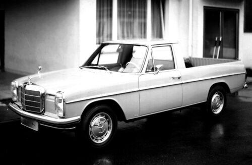 Mercedes 220 D pickup från 1968. Byggdes av Binz.