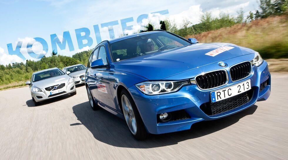 BMW 3-serie Touring 328i, Volvo V60 och Audi A4 Avant