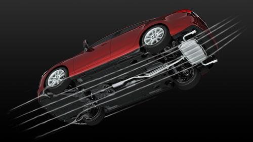 Aerodynamiken hos nya Mazda 6.