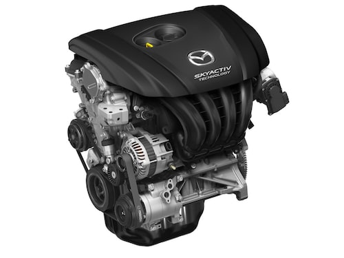 Bensinmotorn SkyActiv-G på 2,0 liter.