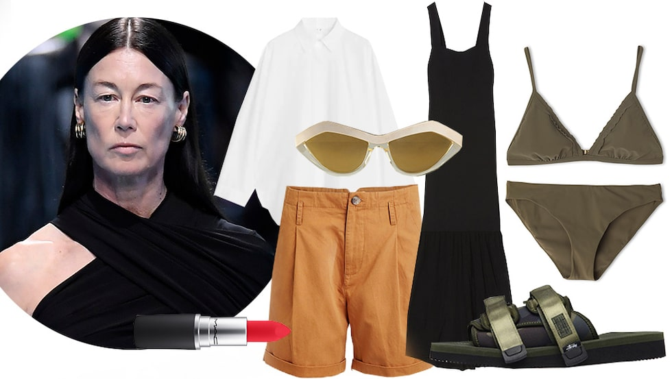 Ursula Wångander, stylist och modell, visar hur hon fixar sin sommarlook.