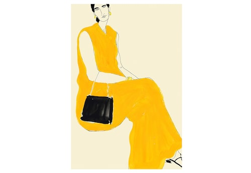 Rosie McGuinness Marigold yellow dress.