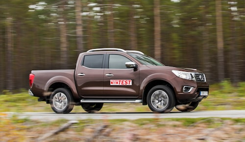 Nissan Navara under Teknikens Världs stora pickuptest hösten 2016 som du kan ta del av om du klickar på bilden.