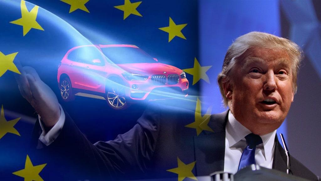 Donald Trump och europeisk bilindustri har haft några duster under de senaste åren. Bland annat sa han för ett par år sedan att tyskar är mycket dåliga, framför allt de som jobbar hos BMW.
