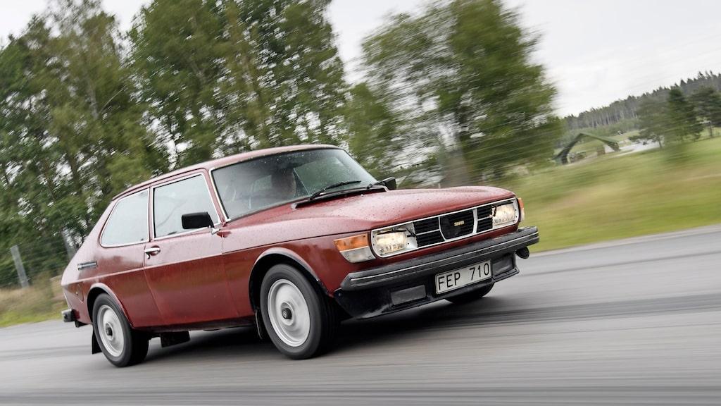 Bilen som egentligen aldrig fanns, 99 Turbo-77. Men flera förseriebilar har räddats av entusiaster. Här chassi nummer 9.
