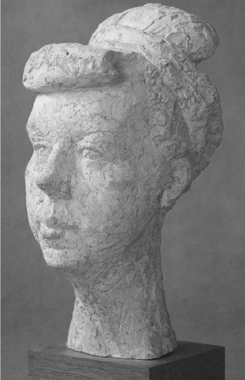 Keramikskulptur av Arne Jones föreställande