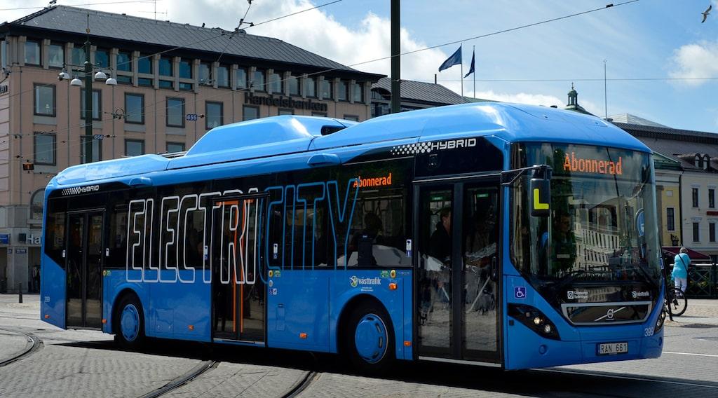 Volvo utvecklar induktionsladdning för linjetrafik