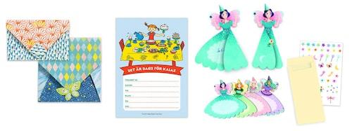 Bjud in till barnkalas med fina inbjudningskort. Eller via sms.