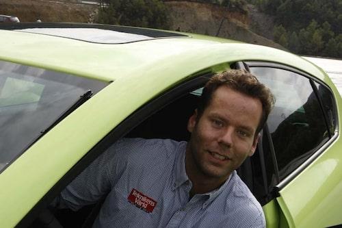 Daniel Frodin trivdes bakom ratten på nya Seat Leon Cupra R med 265 hästkrafter.