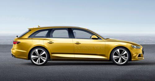 Omisskännligt Audi, men sidoprofilen visar ändå på modernare tider i Ingolstadt.