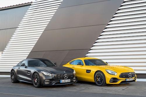 Mercedes-AMG GT C Edition 50 och Mercedes-AMG GT S facelift 2017