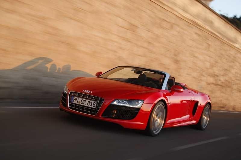Provkörning av Audi R8 V10 Spyder
