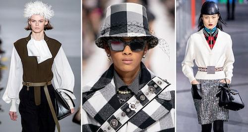 Hatten på hos Loewe, Dior och Louis Vuitton hösten 2019.
