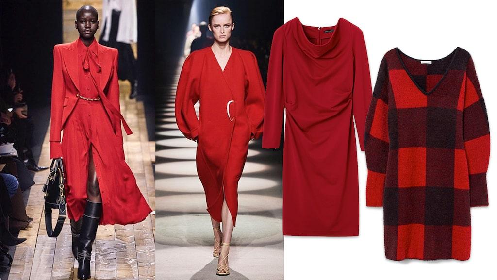 Snygga röda klänningar till jul 2020.