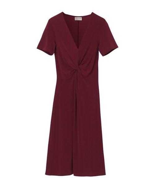Vinröd klänning från By Malene Birger.
