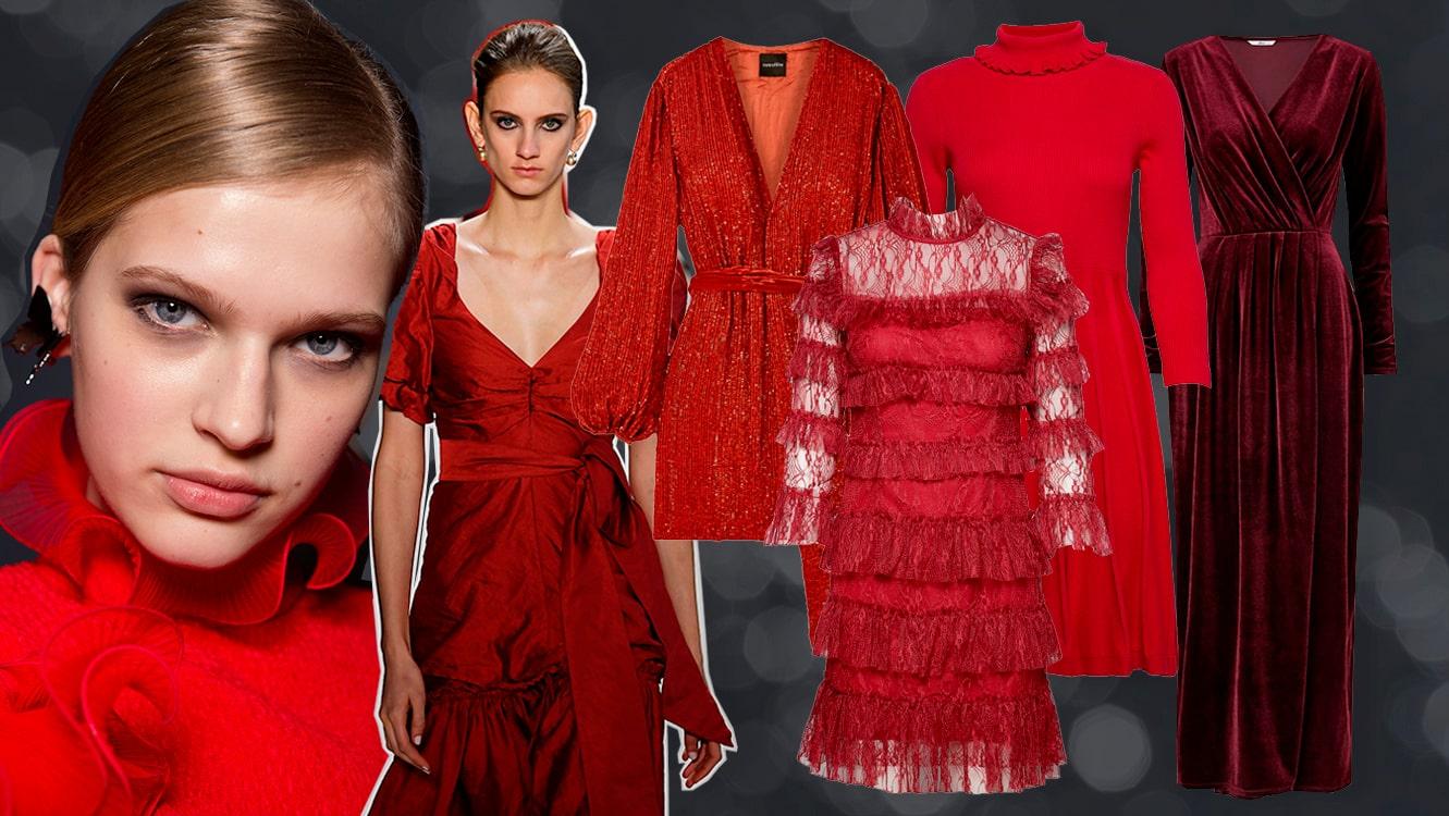 Vackraste röda klänningarna till julen 2019 | Damernas Värld
