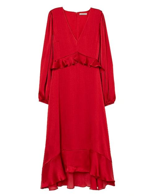 Röd klänning till julen 2019.
