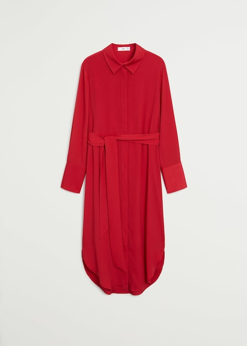 Röd skjortklänning från Mango.