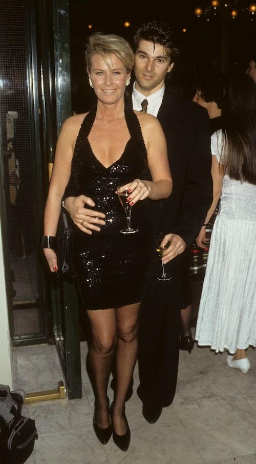 Efva Attling och Niklas Strömstedt 1990.