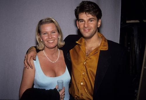 Niklas Strömstedt och Efva Attling 1992.