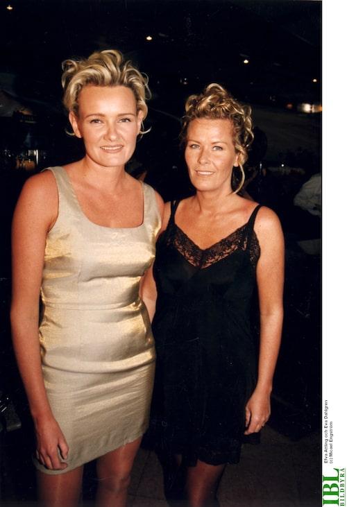 Efva Attling och Eva Dahlgren 1996