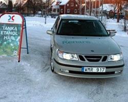 Grön Saab