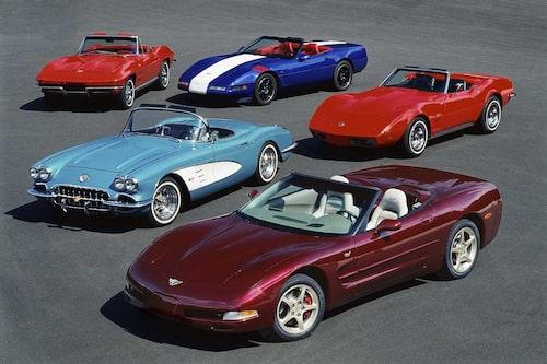 Fem generationer Corvette kan så ut såhär...