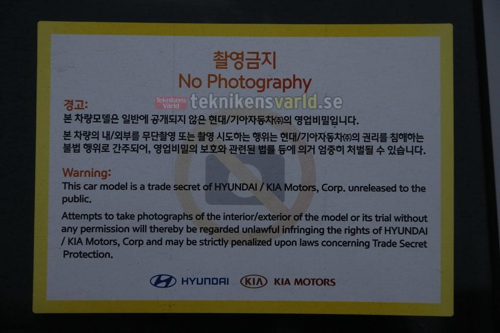 Denna bil är förbjuden att fotografera, men vi trotsade så klart förbudet.