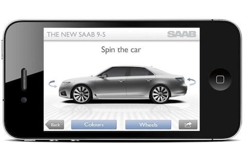 Saab-appen i iPhone.