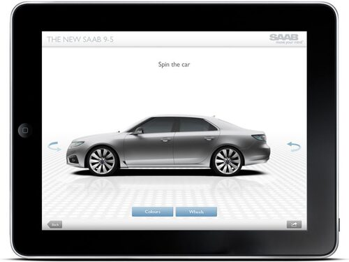 Saab-appen i iPad.