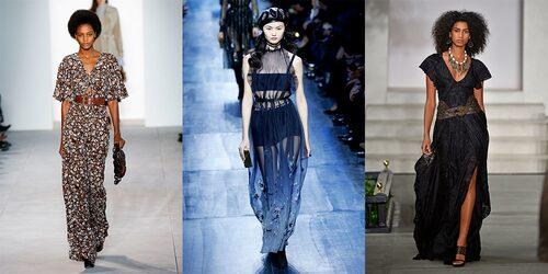 Långklänningar från catwalken, Michael Kors, Christian Dior & Ralph Lauren.