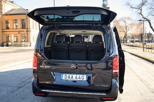 Glaspartiet kan öppnas separat, vilket går snabbare än att öppna hela bagageluckan.