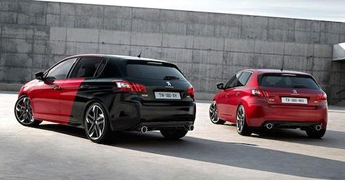 Två varianter finns av nya 308 GTi, en med 250 hästar under huven och en med 270.