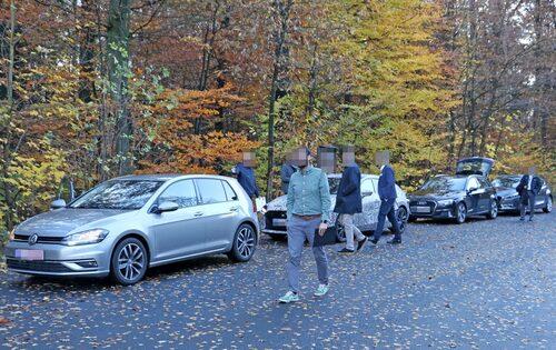 Mazdas testlag jämför nya Mazda 3 med Volkswagen Golf och Audi A3.
