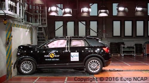 Audi Q2 klarade sig bäst i de senaste krocktesterna hos Euro NCAP.
