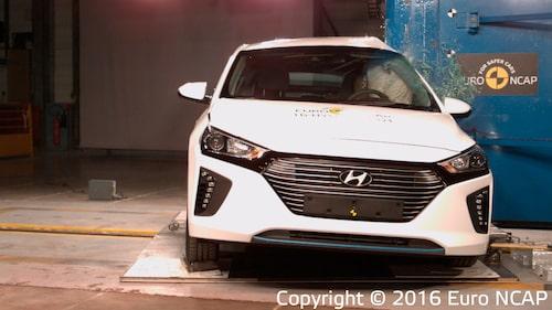 Resultaten av krocktesterna av Hyundai Ionic gäller för alla versioner av modellen – oavsett drivkälla.