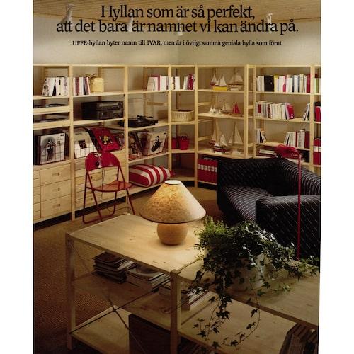 IVAR får sitt nuvarande namn i IKEA-katalogen 1984.