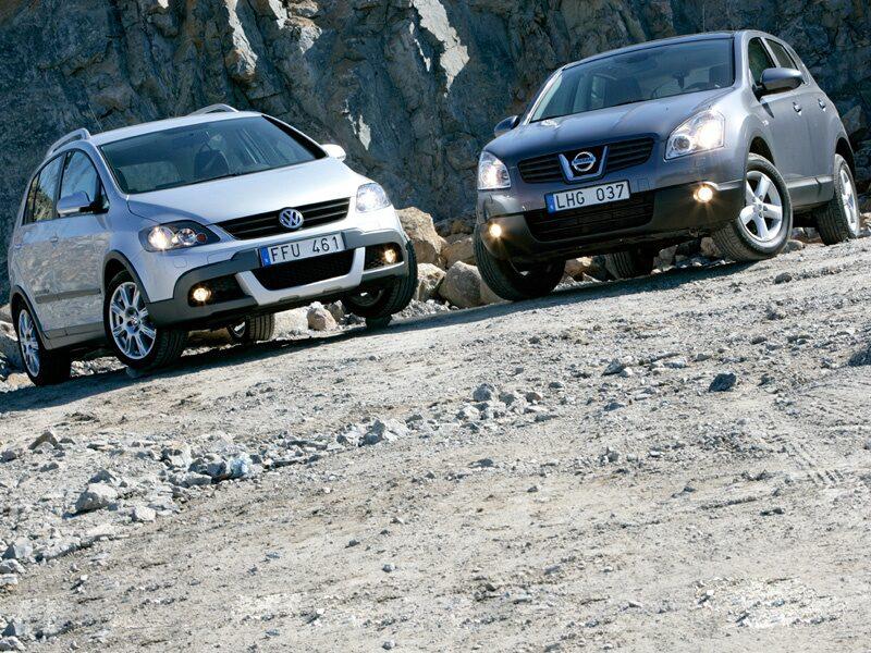Provkörning av Nissan Qashqai och Volkswagen CrossGolf