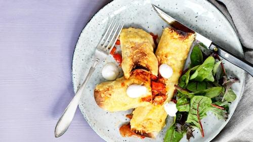 Recept på enchiladas med oumph.