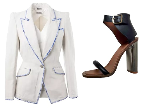 Helmut Lang Blazer and Céline sandals from vestiairecollective.com