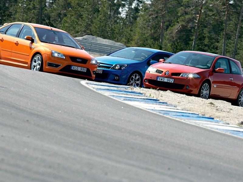 Provkörning av Ford Focus ST, Opel Astra OPC och Renault Mégane Sport