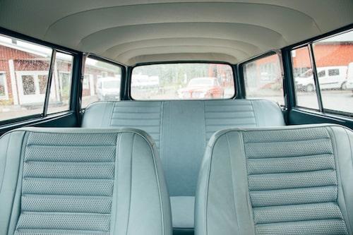 Inga större problem med runtomsikten i en Volvo Amazon Herrgårdsvagn. Raka, plana och framför allt stora glasytor. Inte lika vanligt nuförtiden.